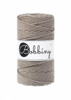 klbko Bobbiny Macrame 3-ply 3 mm coffee